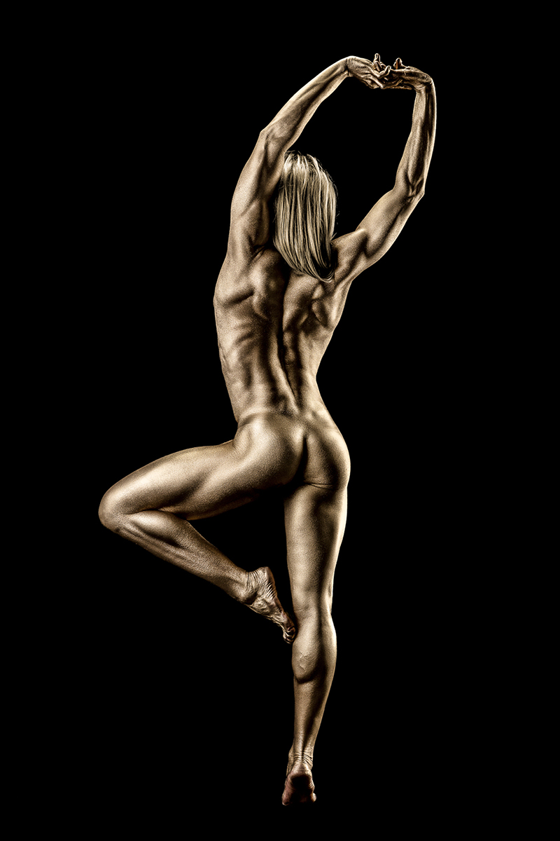 Remarkable, this Naked men and women painted gold thank