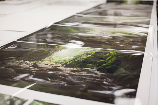 Colour proofing the Cypress Falls Series of Acrylic Artwork